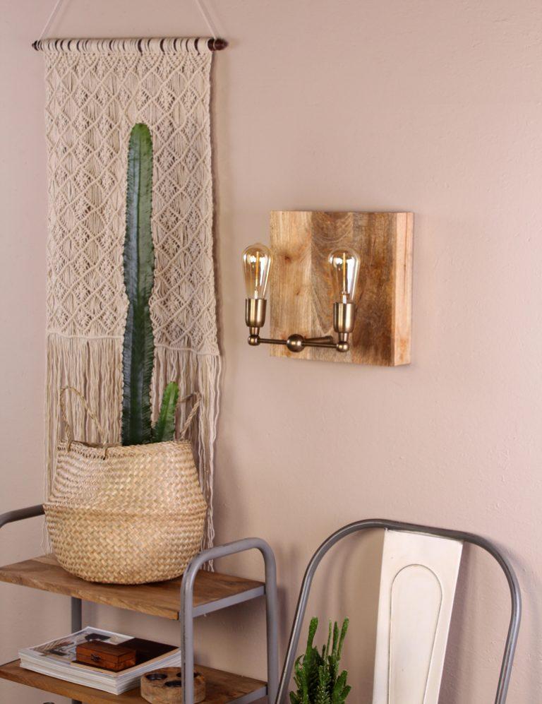 apliques de pared rústicos de dos luces