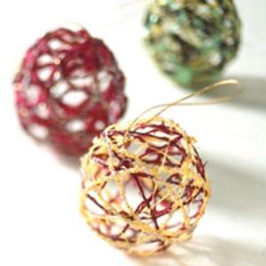 adornos decoracion navidad bolas hilo Adornos para la Decoración de Navidad   Bolas de Hilo