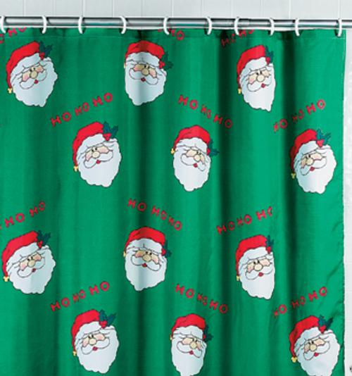 Decorar Un Baño Navideno:Christmas Bathroom Shower Curtains