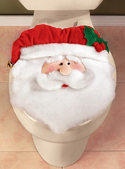 adornos para decorar el cuarto de bano funda retrete Accesorios para Decorar el Cuarto de Baño en Navidad