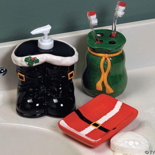 Decoracion Baño Navideno:adornos-para-decorar-el-cuarto-de-bano-jabonera-jabon-liquido