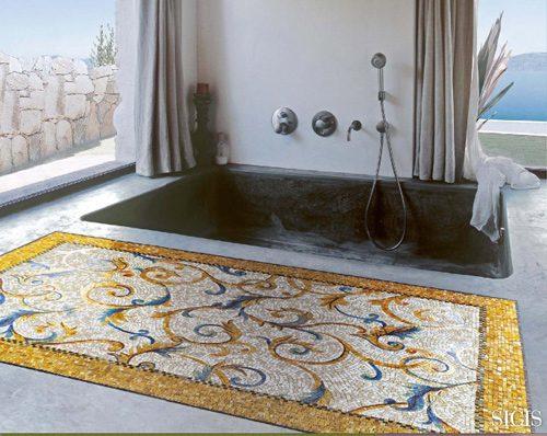 Espectaculares alfombras de mosaicos - Alfombras bano originales ...