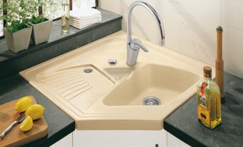 aprovechar espacio cocina fregaderos esquina 2 Aprovechar Espacio en la Cocina: Fregaderos en Esquina