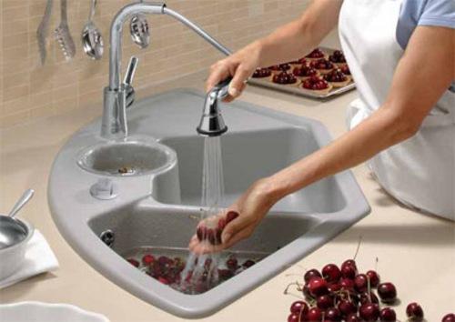 Aprovechar espacio en la cocina fregaderos en esquina - Tipos de fregaderos ...