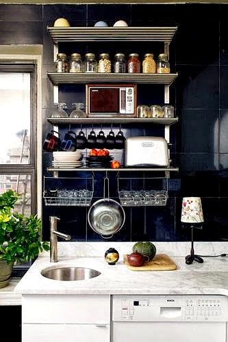 espacio vertical para equipar cocinas pequeñasl