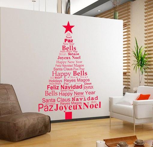 Rboles de navidad con vinilos - Arbol de navidad original ...