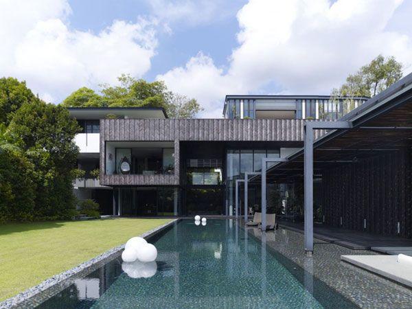 Arquitectura moderna para una impactante casa for Casa moderna arquitectura