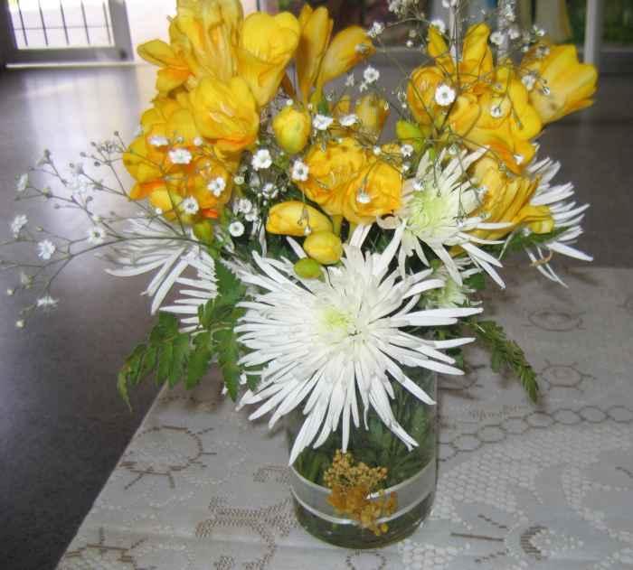 Arreglo floral conservado