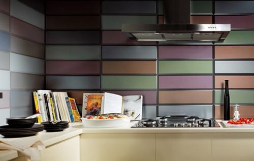 Azulejos modernos color en ba os y cocinas - Azulejos de cocina modernos ...