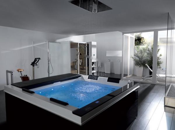 Un baño de diseño hi tech y que incluyen confortables prestaciones