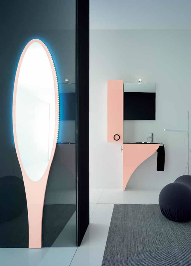 Baño Pequeno Original:Moderno Mobiliario para Baños Pequeños