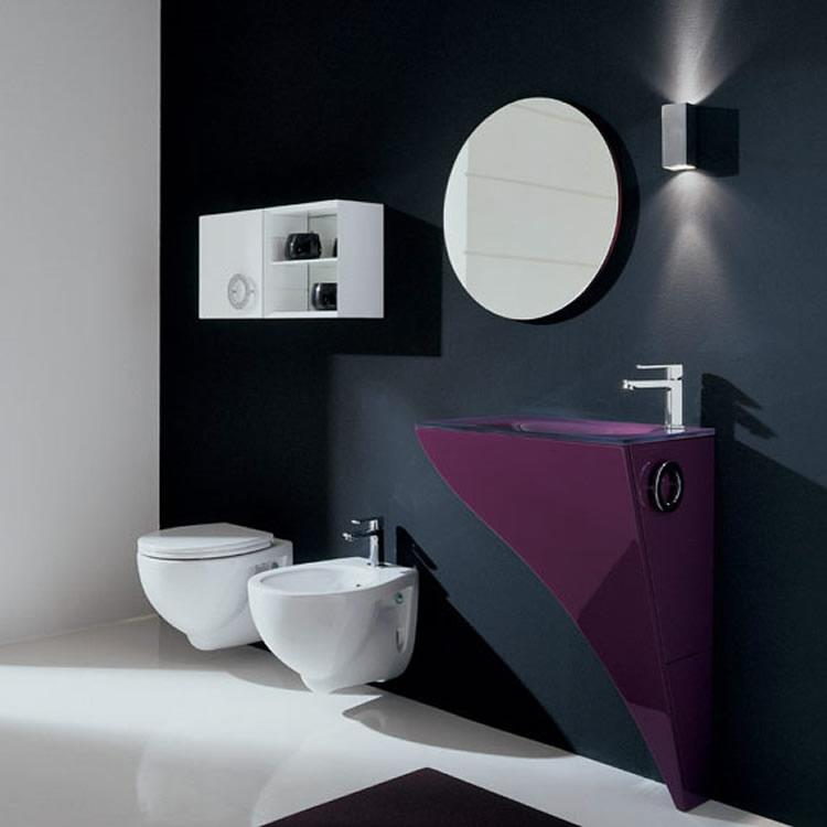 Baño Pequeno Elegante:Moderno Mobiliario para Baños Pequeños