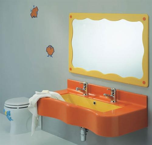 baños para niños con diseños de colores