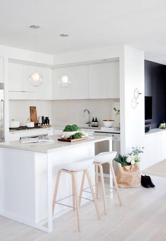 blanco absoluto en la cocina