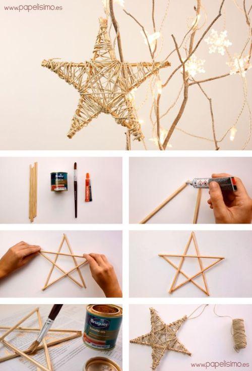 bricolaje de estrella de Navidad