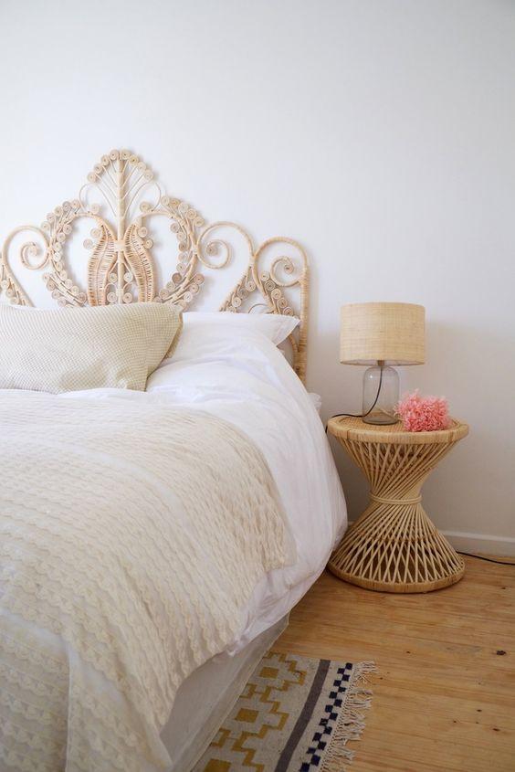 cabecero de cama artesanal