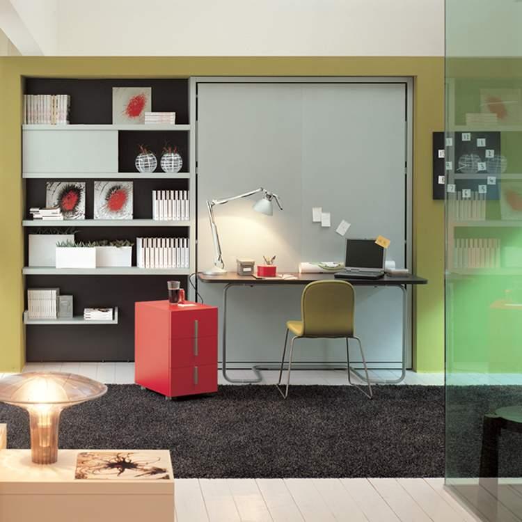 Muebles para ahorrar espacio Cama y Escritorio Ulisse