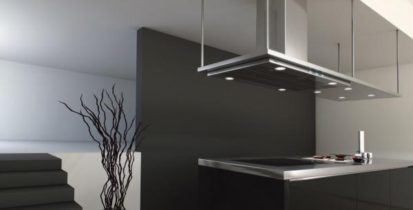 Campanas extractoras de cocina con motores ecoeficientes - Cocinas con campanas decorativas ...