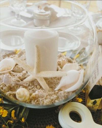 Centro de mesa para la decoraci n de verano for Decoracion del hogar con velas