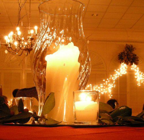 centro de mesa navidad bandeja jarron cristal velas Ideas de Centros de Mesa para Navidad  Segunda Parte