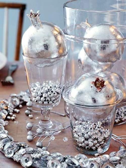 centro de mesa navidad copas bolas Ideas de Centros de Mesa para Navidad  Segunda Parte
