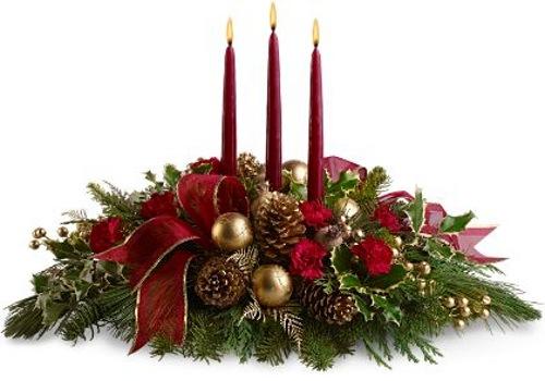 Ideas de centros de mesa para navidad - Centros de navidad con velas ...