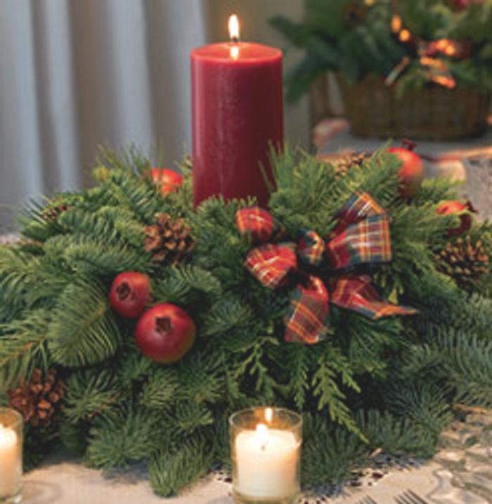 Ideas de centros de mesa para navidad for Adornos navidenos sencillos