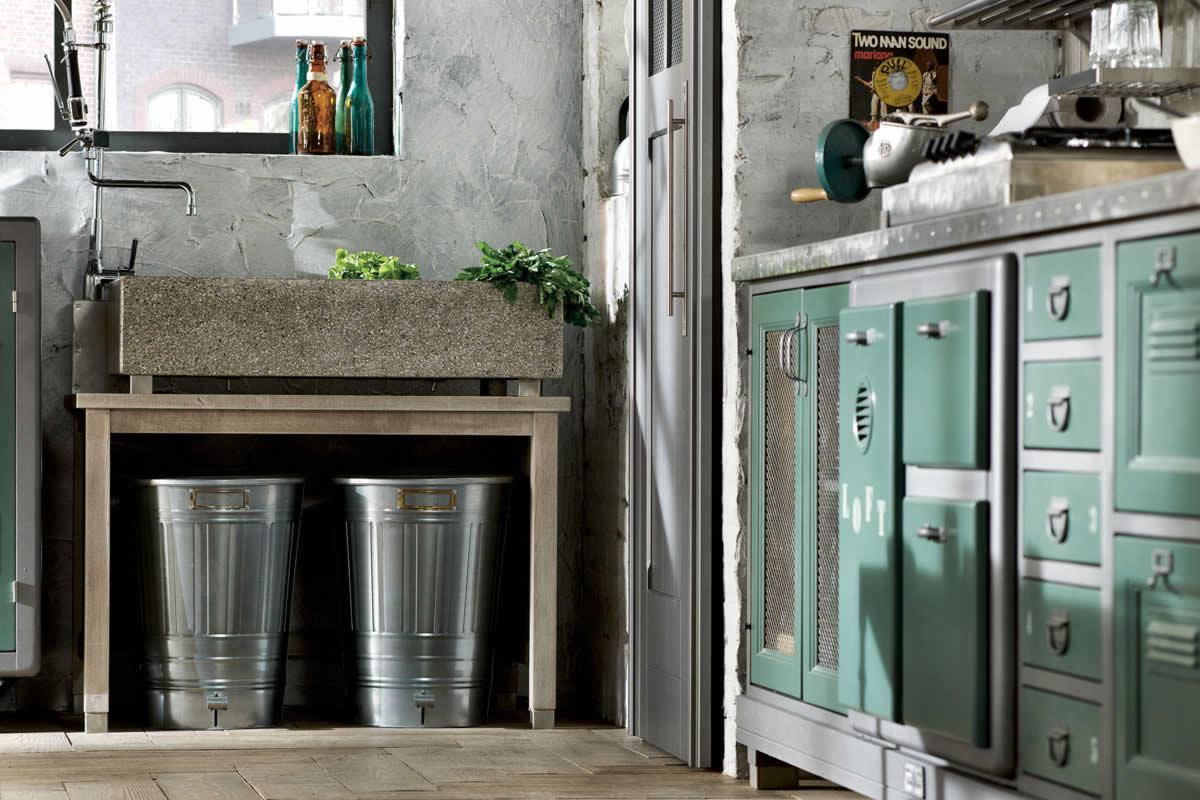 Mobiliario de cocina estilo vintage for Marchi group cucine