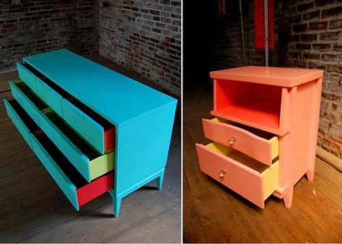 Chroma lab color en muebles viejos for Reparacion de muebles antiguos