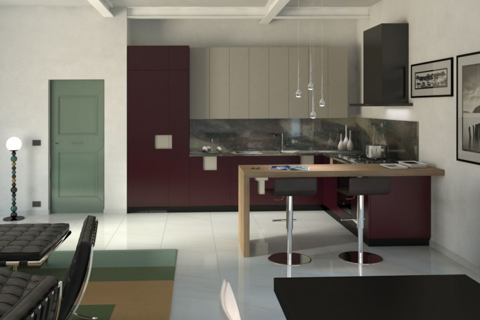 Gran cocina peque a completamente personalizable for Muebles de cocina vibbo