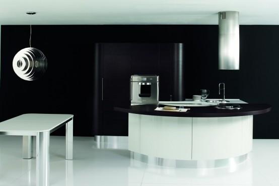 Cocina contempor nea de dise o circular for Diseno de cocinas contemporaneas