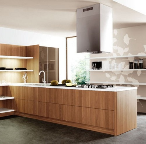 Cocinas de dise o con estantes - Cocinas con diseno ...