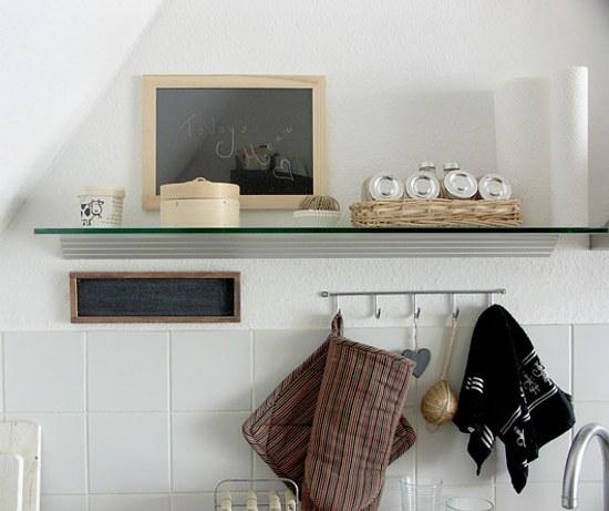 Utensilios de cocina en la pared ganar espacio decorar - Utensilios para pintar paredes ...