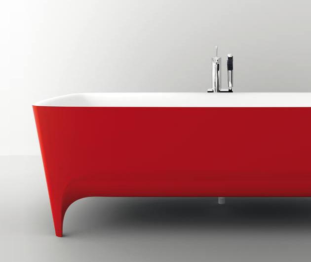 Coleccion Baño Punto Rojo:Nuevas Bañeras de Estilo Moderno de Teuco