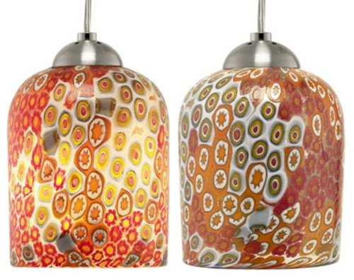 Coloridas Lámparas de Cristal