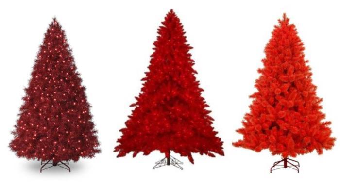 coloridos arboles de navidad gama rojo Coloridos Árboles de Navidad