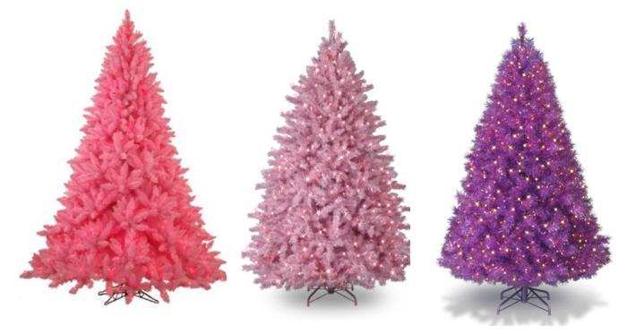coloridos arboles de navidad gama rosa Coloridos Árboles de Navidad