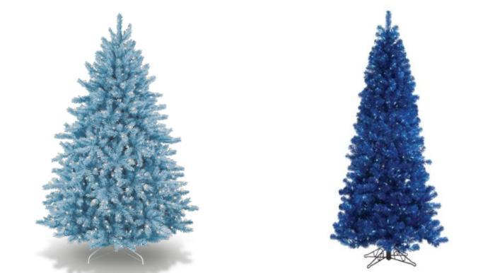 coloridos arboles de navidad gamas azul Coloridos Árboles de Navidad