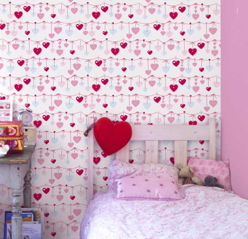 C mo renovar habitaciones infantiles con papel pintado - Combinar papel y pintura ...