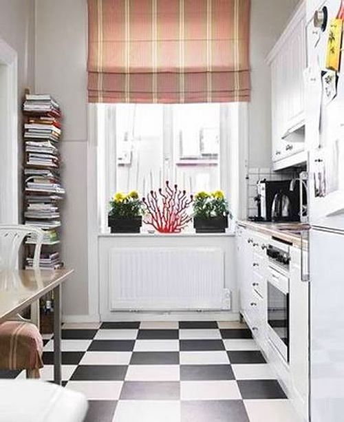 C mo decorar cocinas peque as - Small kitchen floor tile ideas ...