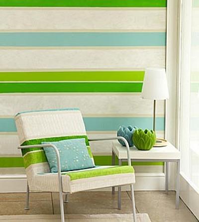 C mo pintar paredes a rayas primera parte - Pintar pared a rayas horizontales ...