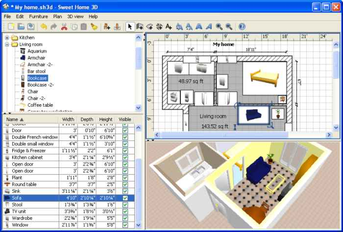 Decoraci n de casas con el programa sweet home 3d for Software decoracion interiores 3d gratis