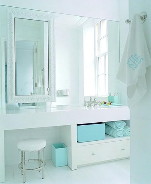 deco idea dos espejos para decorar el ba o