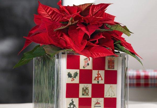 Decoraci n navidad centro de mesa hecho en casa - Centros de mesa para casa ...
