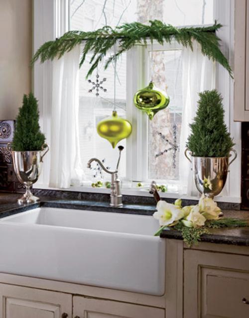decoracion navidena para todas las habitaciones ramas verdes cocina Decoración Navideña para todas las Habitaciones