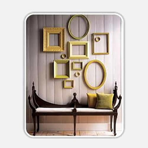 Decoraci n de paredes con cuadros y marcos vac os - Decoracion de paredes con fotos ...