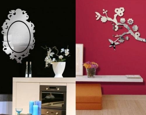 Decoraci n de paredes con vinilos de espejos for Decoracion de paredes con espejos