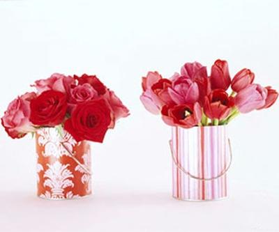 decoracion san valentin centros mesa arreglos florales