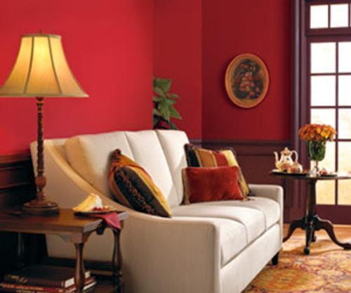 Decoraci n con colores vino for Colores para departamentos modernos