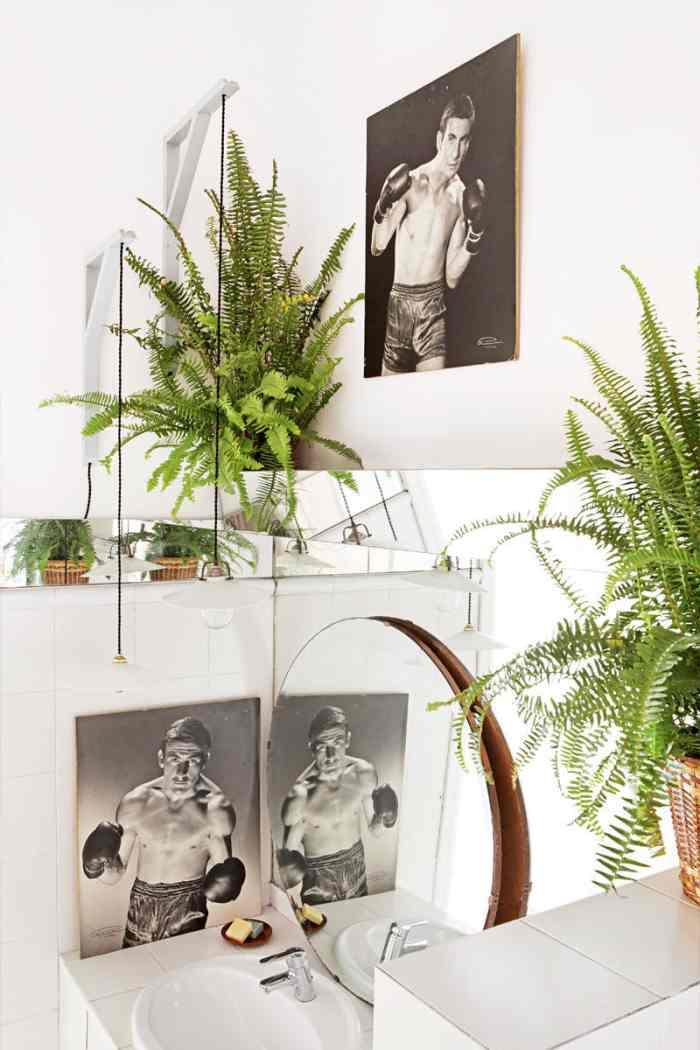 decorar con plantas y velas